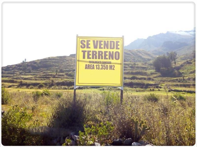 Foto Terreno en Venta en  Chivay,  Caylloma  TERRENO COLCA