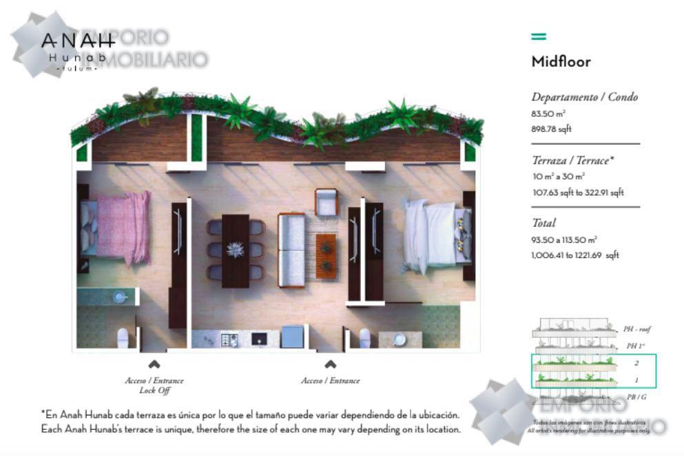 Foto Departamento en Venta en  ,  Tulum  Departamento Venta Anah Hunab Tulum $277,500 USD ERM1