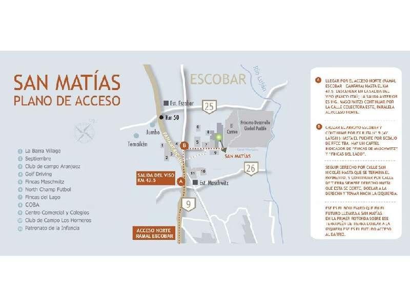 Foto Terreno en Venta en  San Matias,  Countries/B.Cerrado (Escobar)  Bº San matias Lote al 100