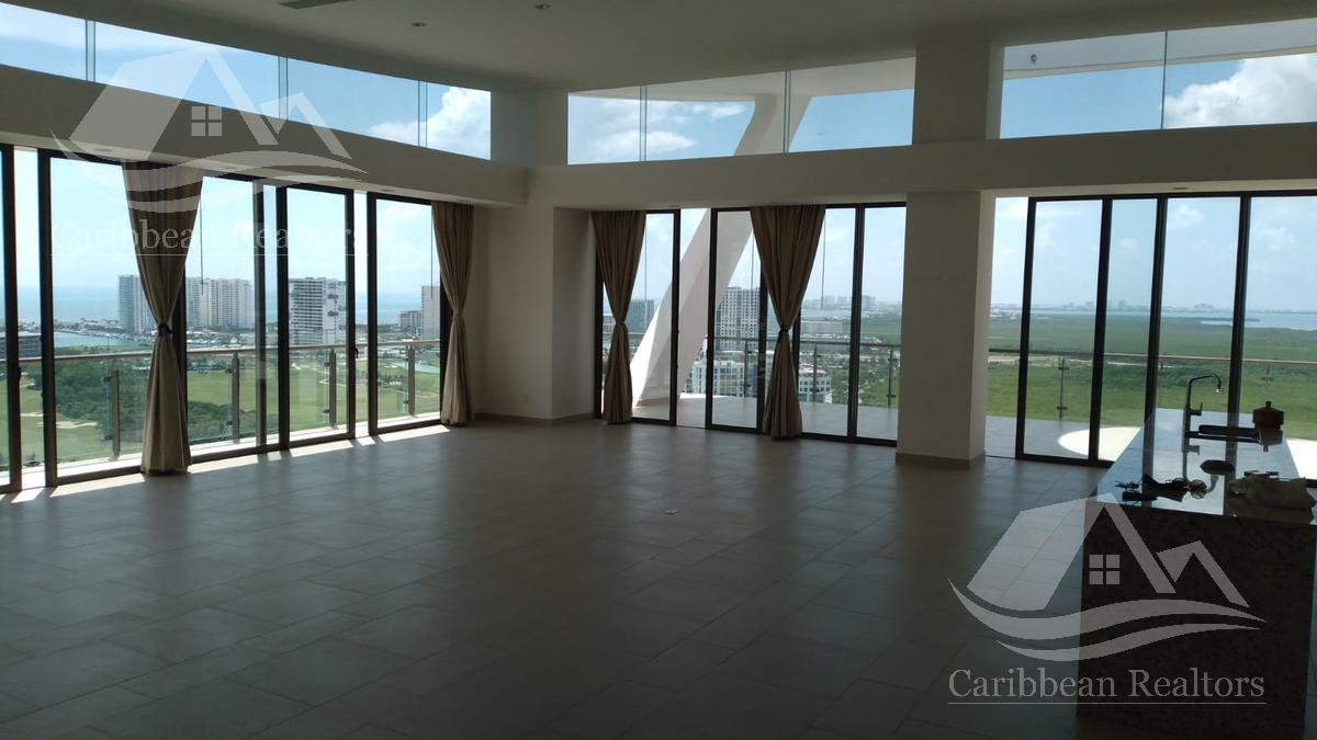Departamento en Renta en  Puerto Cancún Sin muebles Vistas espectaculares