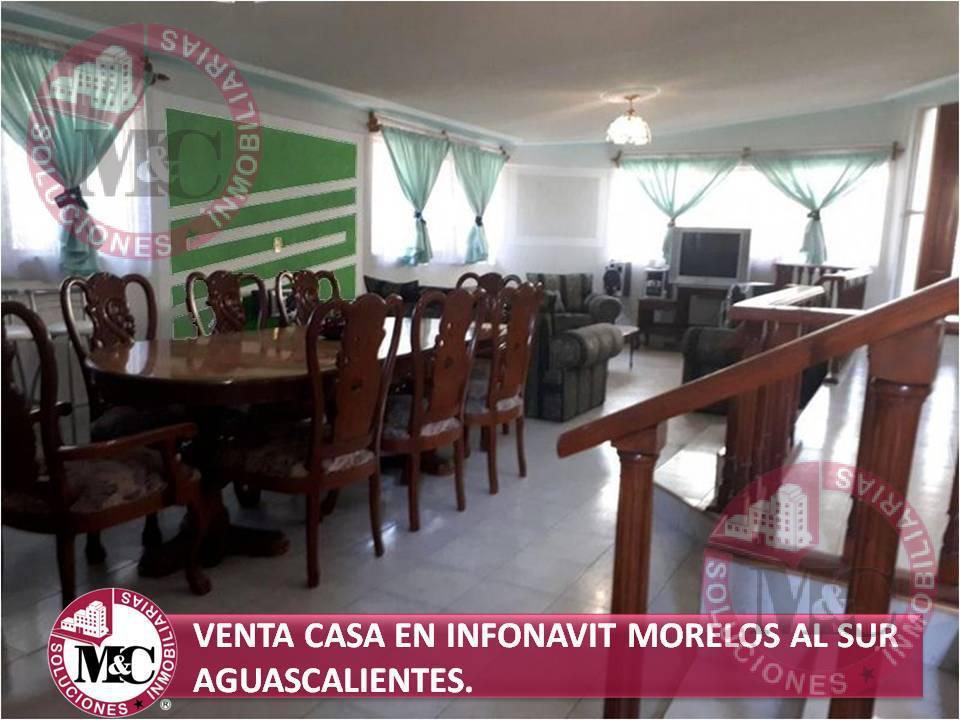 Foto Casa en Venta en  Unidad habitacional Morelos INFONAVIT,  Aguascalientes  M&C VENTA CASA EN INFONAVIT MORELOS AL SUR AGUASCALIENTES, AGS