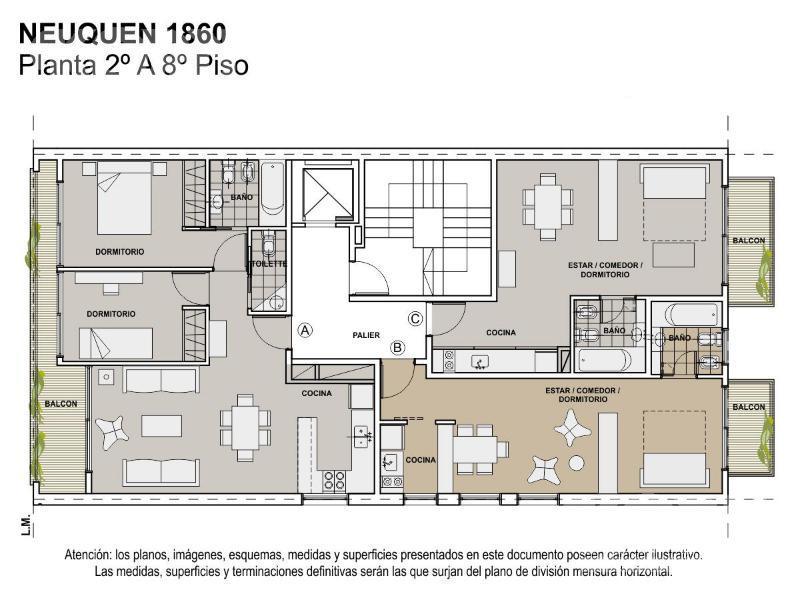 Foto Departamento en Venta en  Caballito Norte,  Caballito  Neuquén al 1800