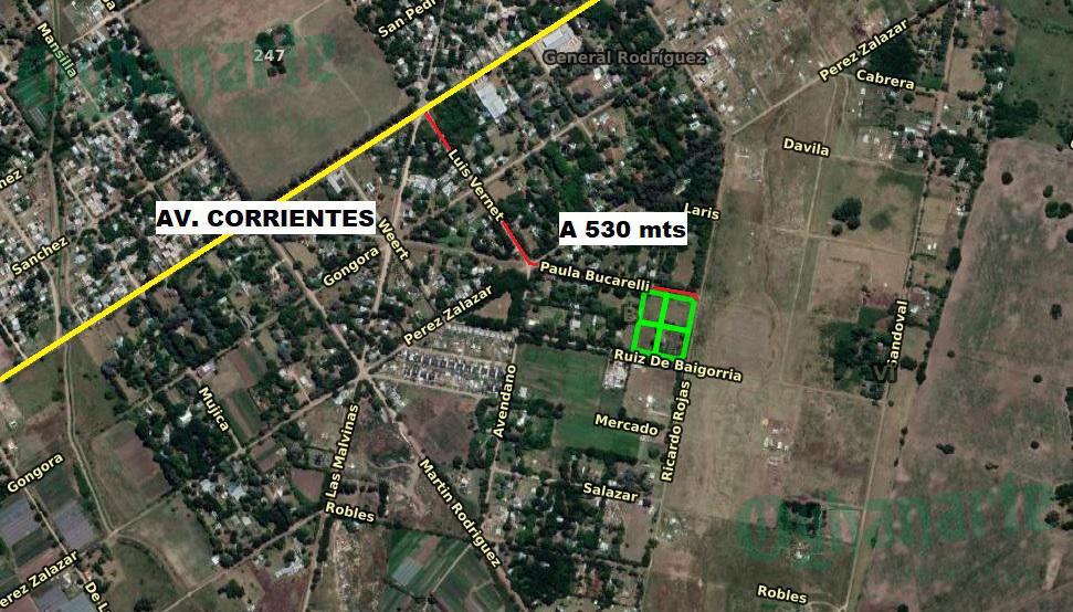 Foto Terreno en Venta en  General Rodriguez ,  G.B.A. Zona Oeste  LOTE 2800 m2 prox. AV CORRIENTES
