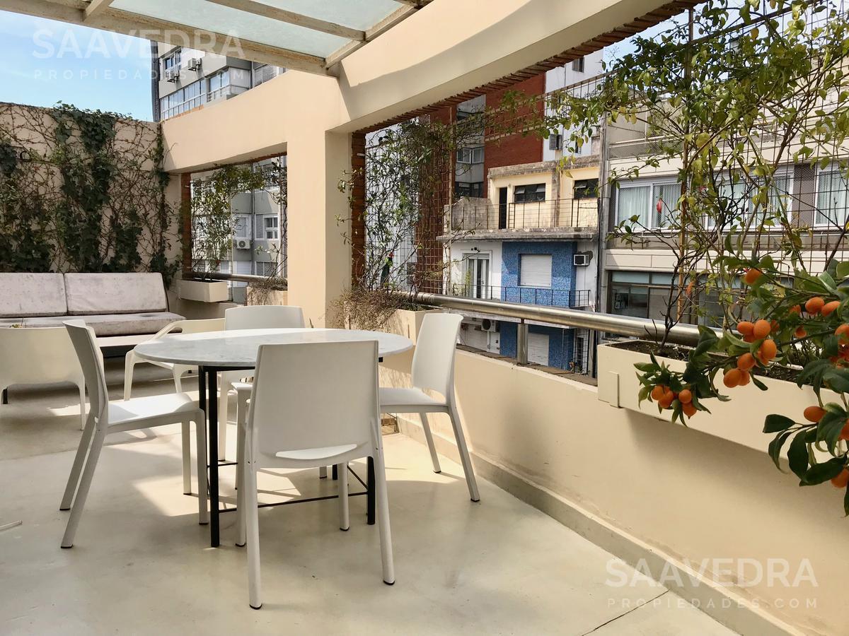 Duplex amueblado con cohera. Increible balcon terraza