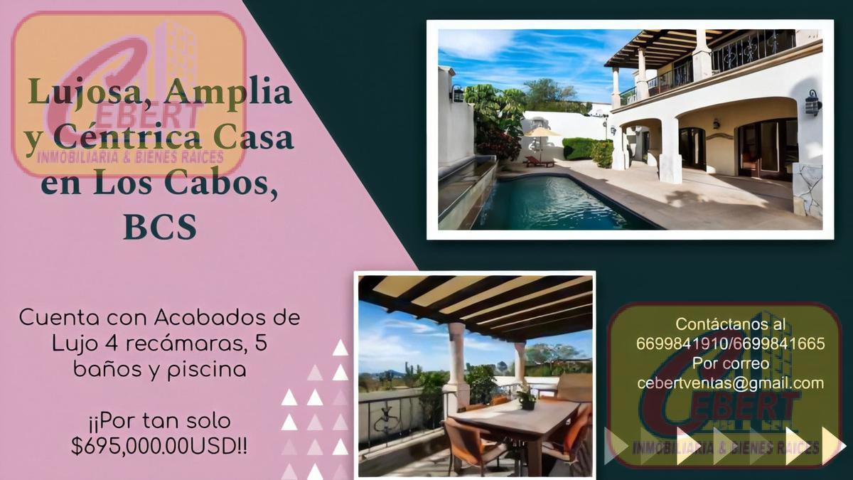 Foto Casa en Venta en  Paraíso,  Los Cabos  EN VENTA AMPLIA Y HERMOSA CASA UBICADA EN RANCHO PARAISO EN LOS CABOS