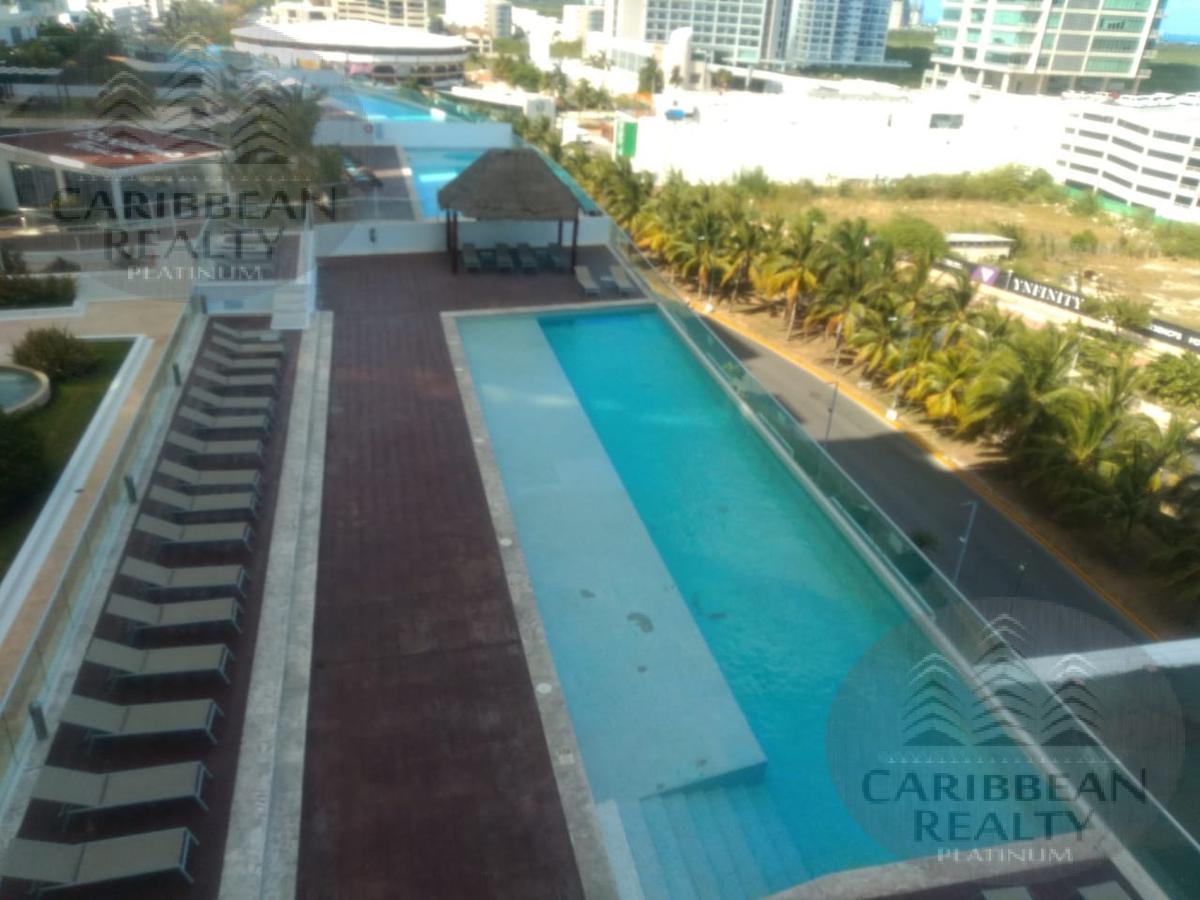 Foto Departamento en Renta en  Cancún Centro,  Cancún  DEPARTAMENTO AMUEBLADO EN RENTA MALECÓN CANCUN