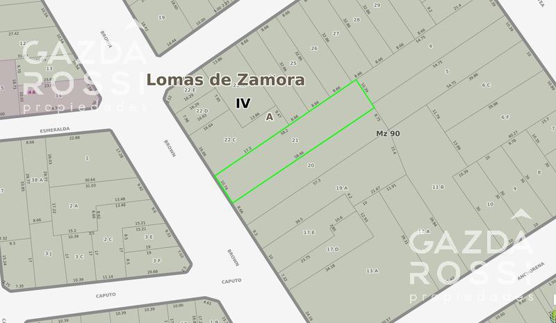 Foto Terreno en Venta en  Temperley,  Lomas De Zamora  ALMIRANTE BROWN  3040