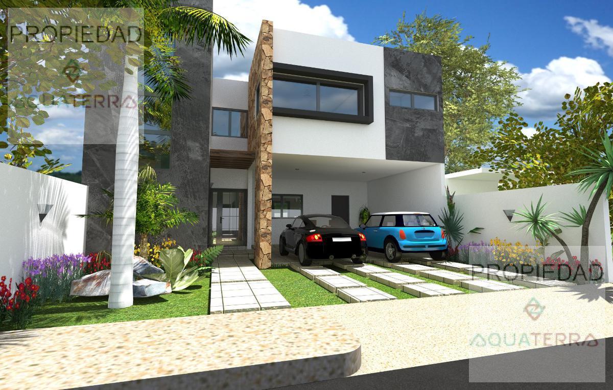 Casas Nuevas con  Diseño Minimalista en Cholul