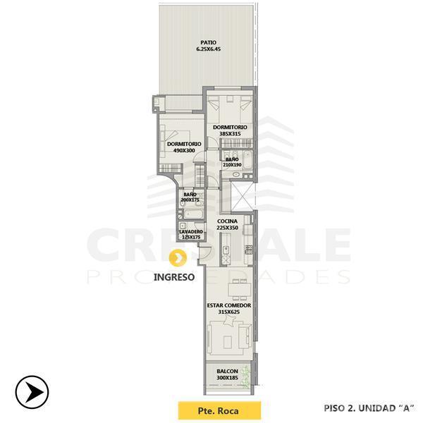 Venta departamento 2 dormitorios Rosario, zona Centro. Cod 4374. Crestale Propiedades