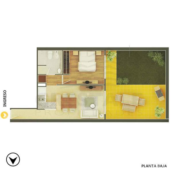 Venta departamento 1 dormitorio Rosario, zona Abasto. Cod CBU8530 AP1046592. Crestale Propiedades