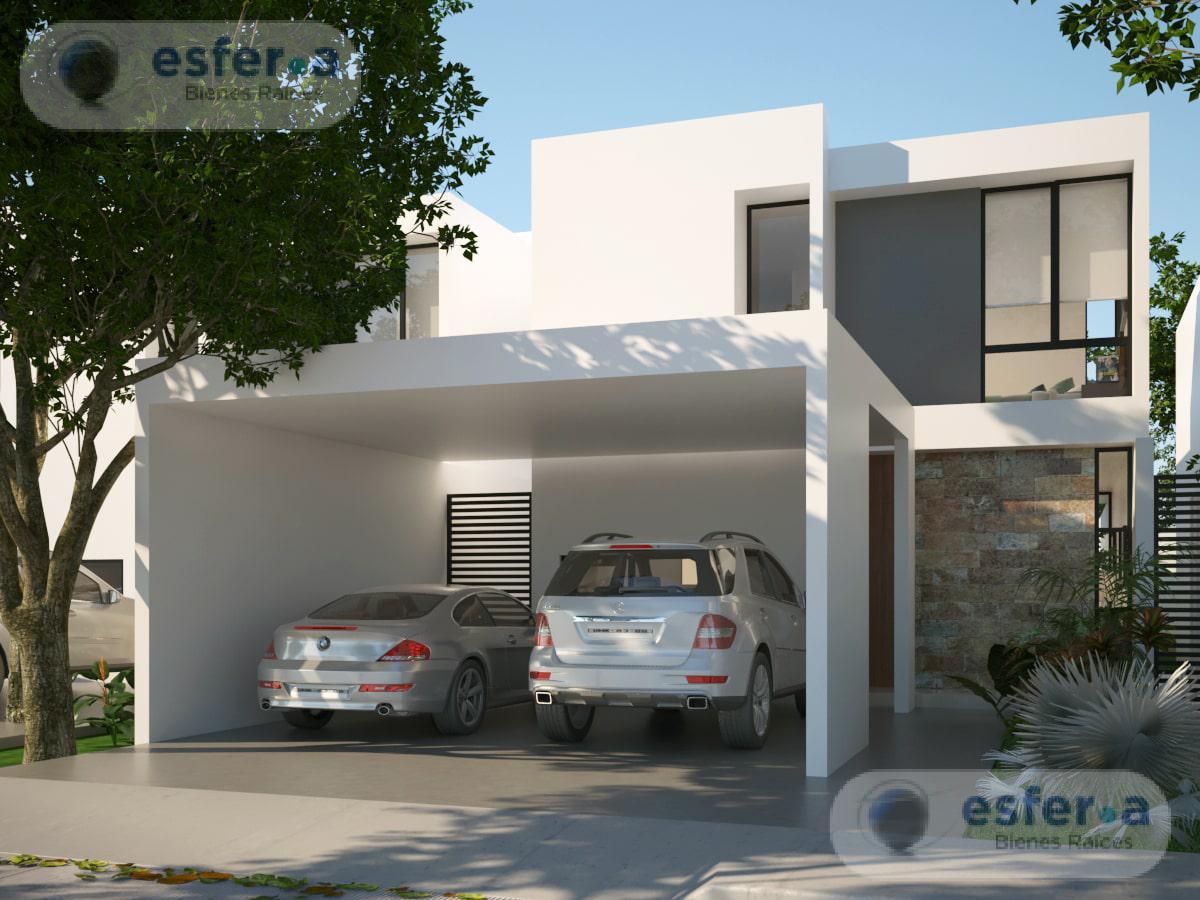 Foto Casa en Venta en  Pueblo Cholul,  Mérida   Privada Arbolada Cholul, casa en venta en Merida