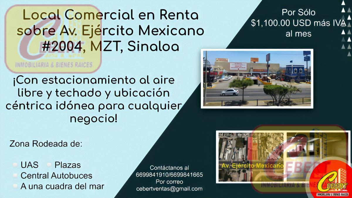 Foto Local en Renta en  Insurgentes,  Mazatlán  Avenida Ejercito Mexicano No. al 2000