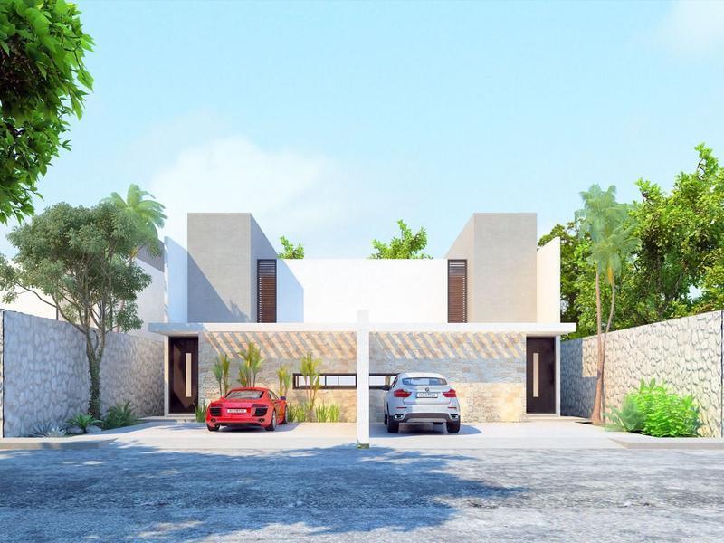 Foto Casa en Venta en  Conkal ,  Yucatán  PATIO CENTRAL
