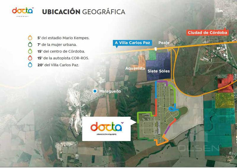 Foto Terreno en Venta en  Docta,  Cordoba Capital  DOCTA - LOTE DE 360 M2 - 1ER. ETAPA - EXC. OPORTUNIDAD!!!