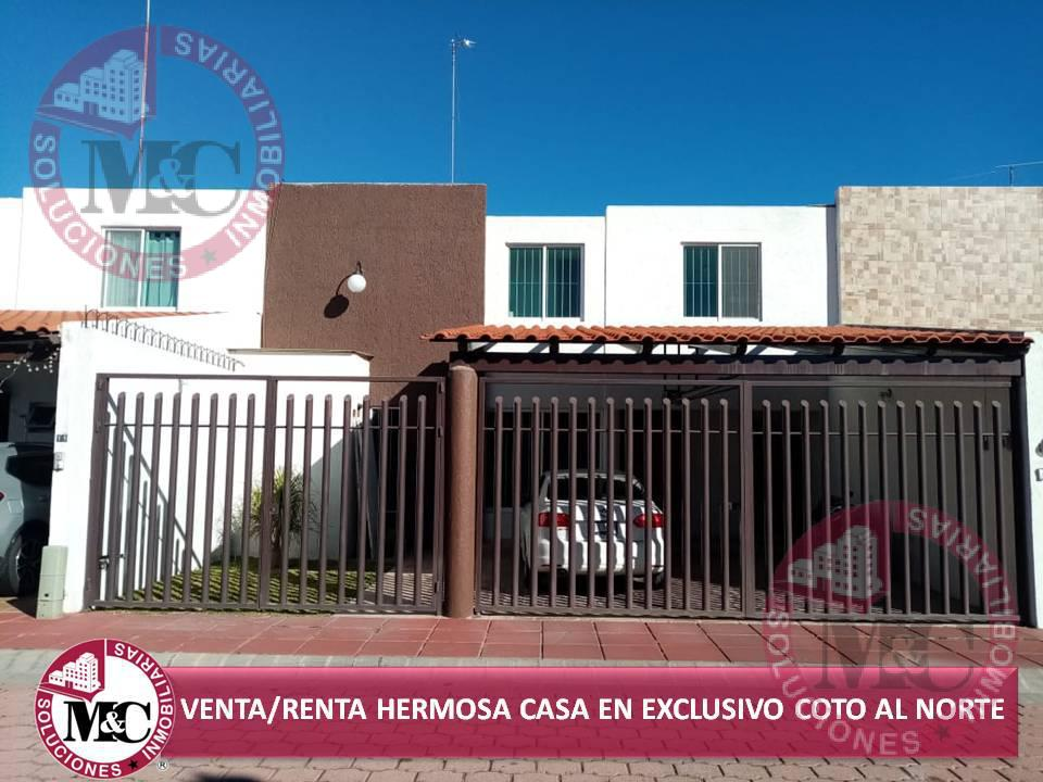 Foto Casa en Venta | Renta en  Condominio Santa Fe,  Aguascalientes  VENTA/RENTA HERMOSA CASA EN EXCLUSIVO COTO AL NORTE