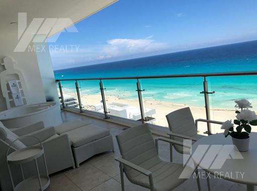 Foto Departamento en Venta en  Zona Hotelera,  Cancún  Departamento en Venta en Emerald Residential Tower, 3 Recamaras, Zona Hotelera, Cancún, Q. Roo, Clave SIND44