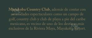 Foto Terreno en Venta en  Playa del Carmen,  Solidaridad  Terreno en Venta en Playa Del Carmen MAYAKOBA COUNTRY CLUB. Lote Condominal Vertical 3001 m2