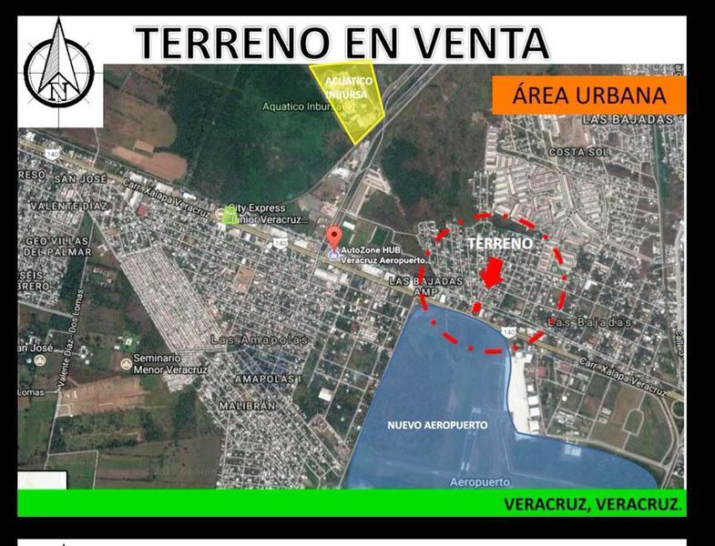 Foto Terreno en Renta en  Las Bajadas,  Veracruz  TERRENO EN VENTA FRENTE AL AEROPUERTO