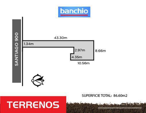 SANTIAGO al 900, Rosario, Santa Fe. Venta de Terrenos - Banchio Propiedades. Inmobiliaria en Rosario