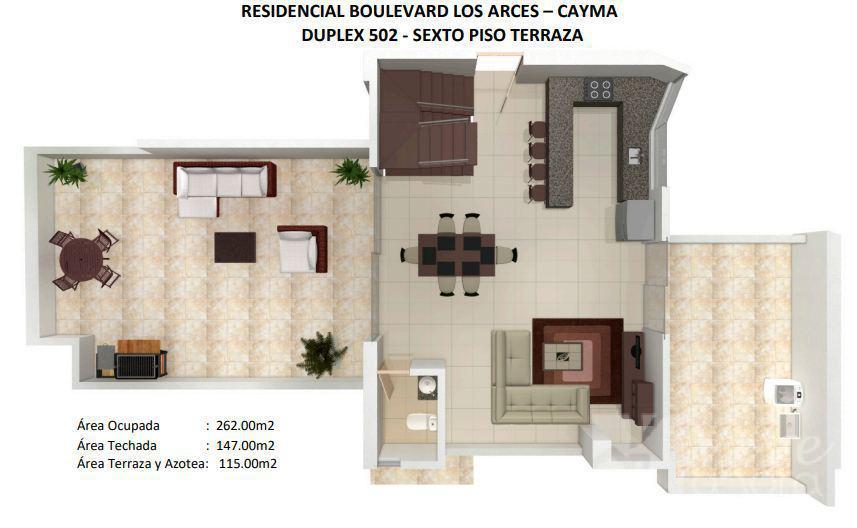 Foto Departamento en Venta en  Cayma,  Arequipa  DUPLEX BOULEVARD CAYMA 502