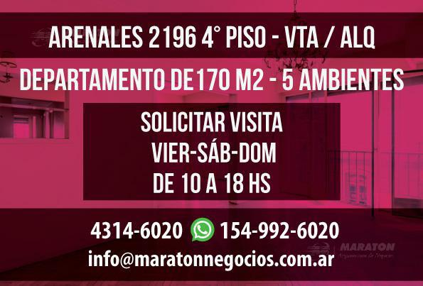 Foto Departamento en Alquiler en  Recoleta ,  Capital Federal  Arenales al 2100