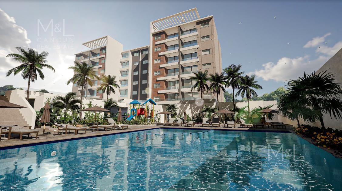 Foto Departamento en Venta en  Aqua,  Cancún  Departamento en Venta en Cancún, Nuevo de 3 recámaras en H2O, Residencial Aqua