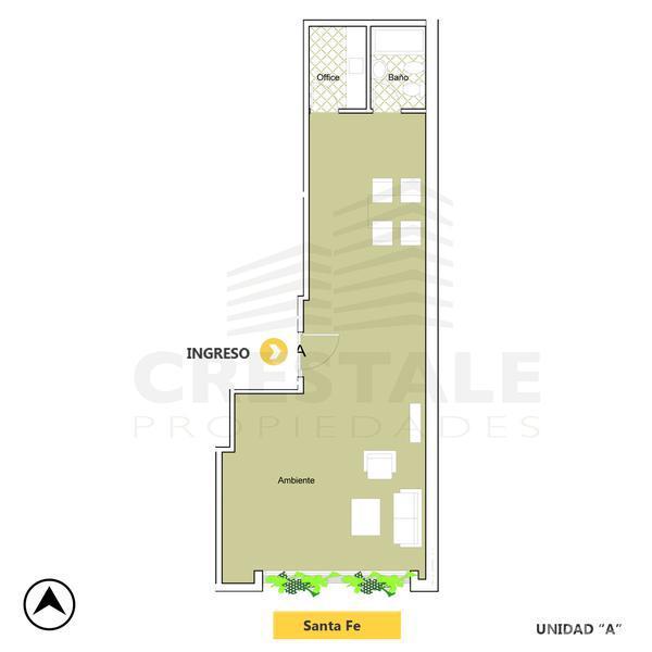 Venta oficina Rosario, zona Centro. Cod CBU10926 OF1073128. Crestale Propiedades
