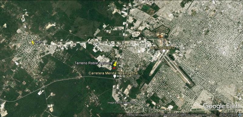 Foto Terreno en Venta en  El Roble,  Mérida  ¡Oportunidad! Terreno en Venta al sur de Mérida, 1 hectárea $370 m2