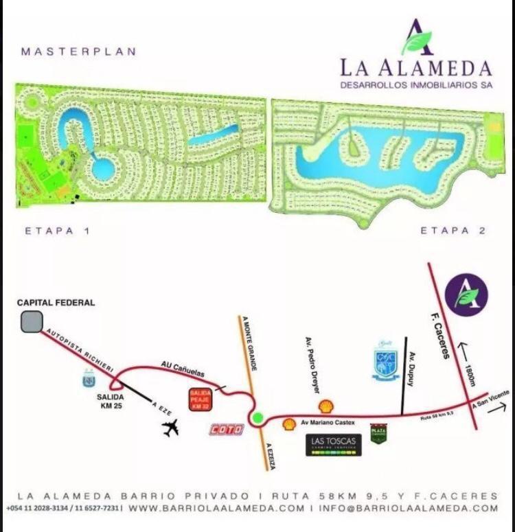Foto Terreno en Venta en  La Alameda,  Canning (E. Echeverria)  La Alameda con fondo a la laguna