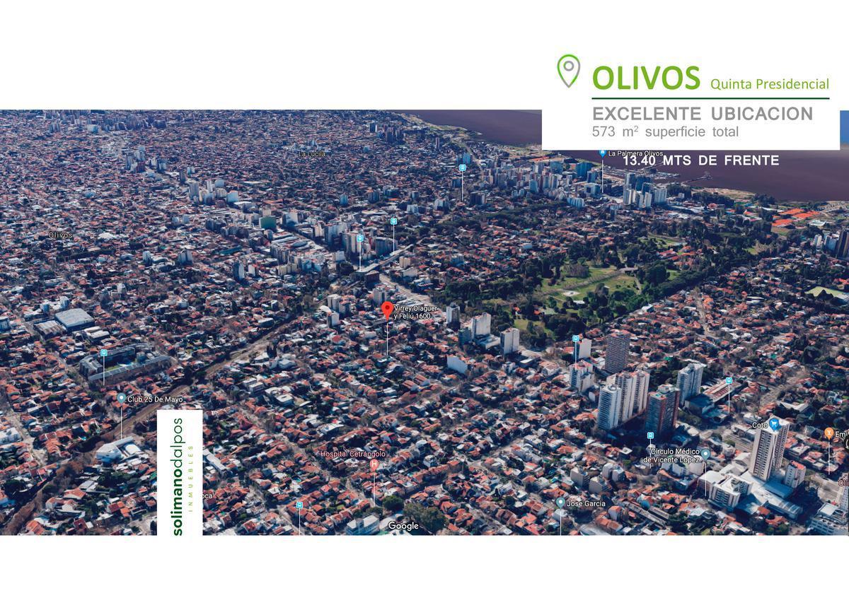 Foto Terreno en Venta en  Olivos-Qta.Presid.,  Olivos  Olaguer y Feliu al 1600