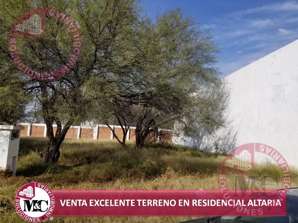 Foto Terreno en Venta en  Fraccionamiento Residencial Altaria,  Aguascalientes  VENTA EXCELENTE TERRENO EN RESIDENCIAL ALTARIA
