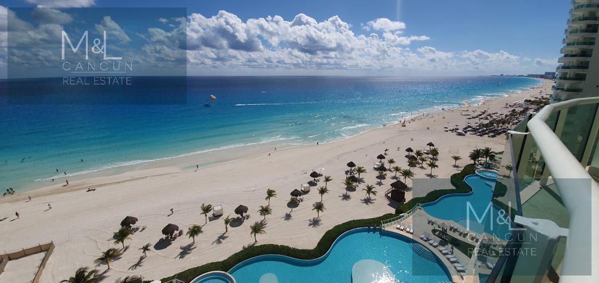 Foto Departamento en Renta en  Zona Hotelera,  Cancún  Bay View Grand Departamento De lujo en Renta Frente al Mar  de 3  Recámaras Amueblado.  Zona Hotelera. Cancún, Quintana Roo, México