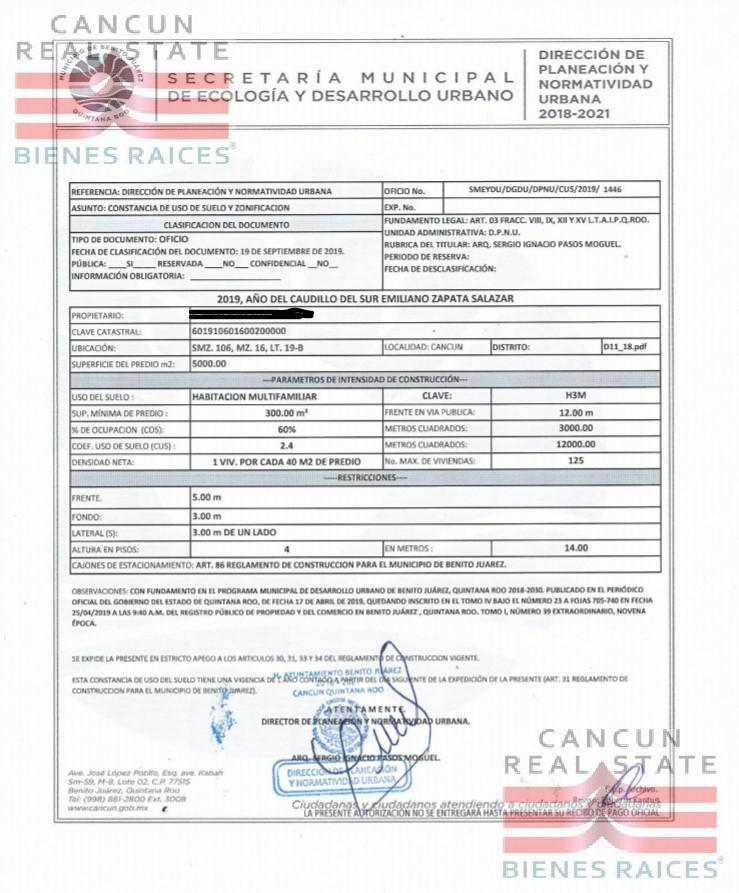 Foto Terreno en Venta en  Supermanzana 62,  Cancún  Terrenos Carabanchel venta