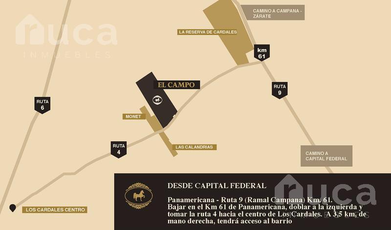 Foto Terreno en Venta en  El Campo - Fincas Exclusivas Cardales,  Countries/B.Cerrado (Campana)  VENTA | LOTE Bosque Central | Etapa 1