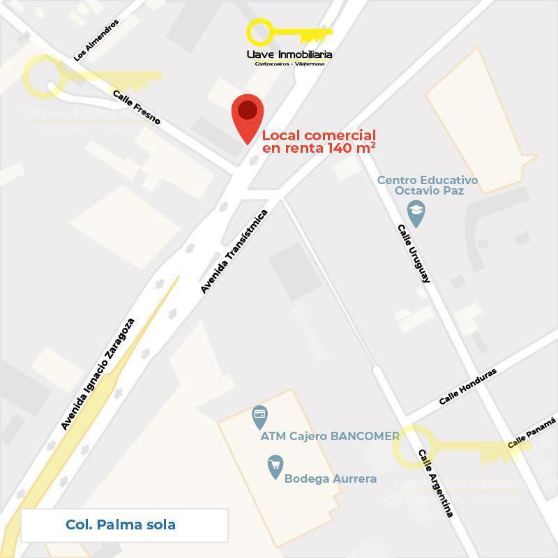 Foto Local en Renta en  Palma Sola,  Coatzacoalcos  Local En Renta, Zaragoza, Col.  Palma Sola.