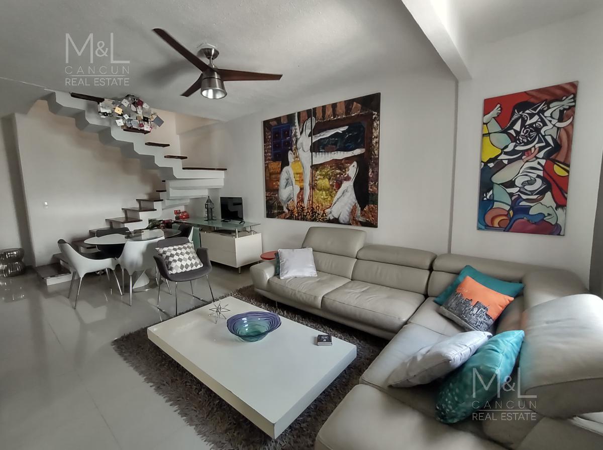 Foto Casa en condominio en Venta | Renta en  Las Americas,  Cancún  Casa en Renta y Venta en Cancún. Residencial Las Amèricas. En Privada de 4 Recámaras  Amueblada