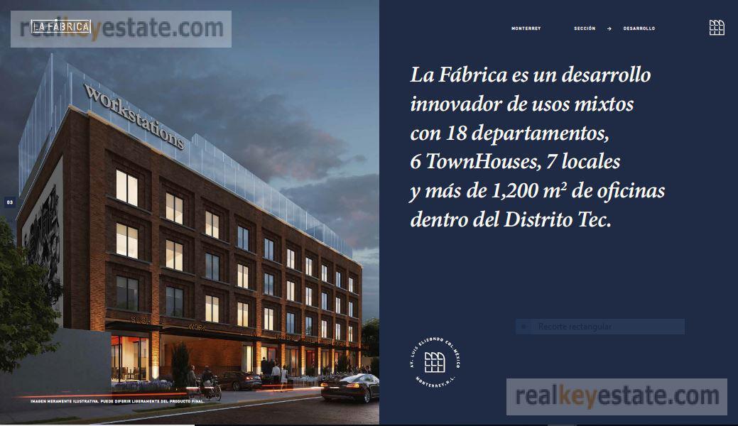 Foto Oficina en Venta en  México,  Monterrey      Oficina en Preventa en La Fábrica, Distrito Tec Monterrey