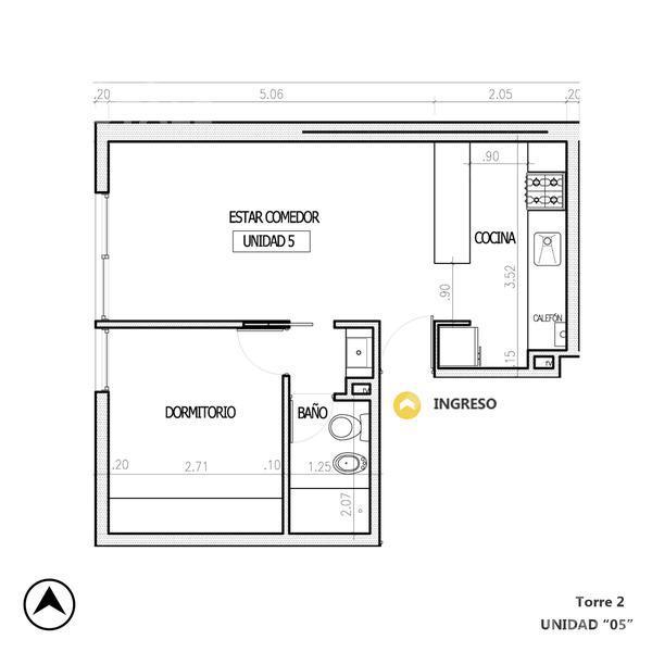 Venta departamento 1 dormitorio Rosario, zona Centro. Cod CBU12357 AP1181533. Crestale Propiedades