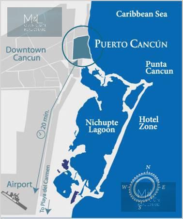 Foto Terreno en Venta en  Puerto Cancún,  Cancún  Terreno en Venta Puerto Cancùn La Laguna II. 194.72 m2. Cancún, Quintana, Roo Mèxico