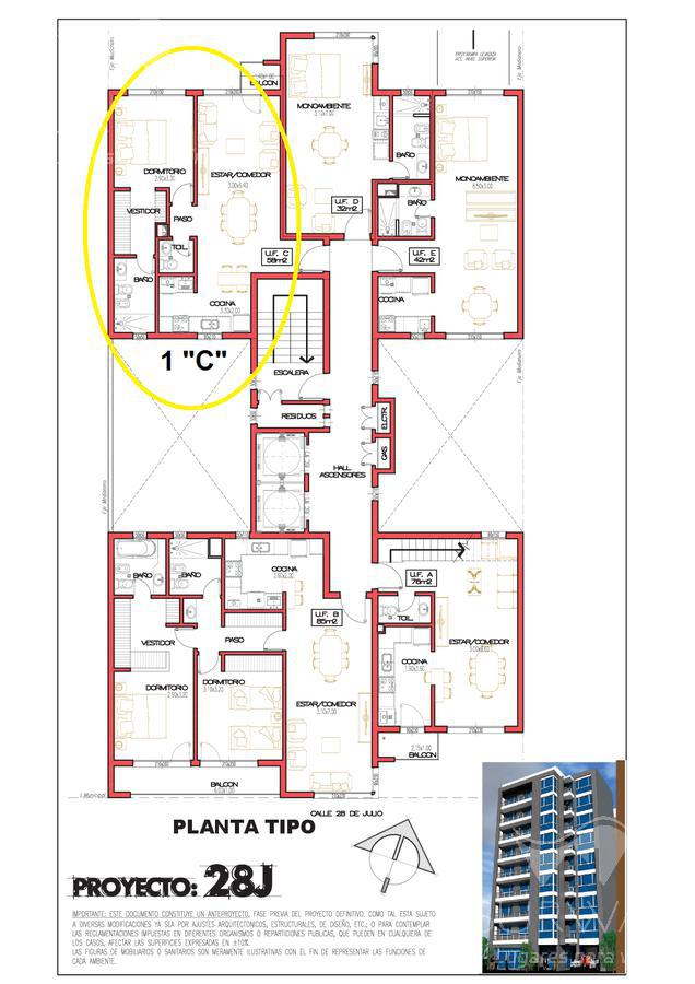 Foto Departamento en Venta en  Puerto Madryn,  Biedma  28 de Julio 343 - Ed. 28J 1°
