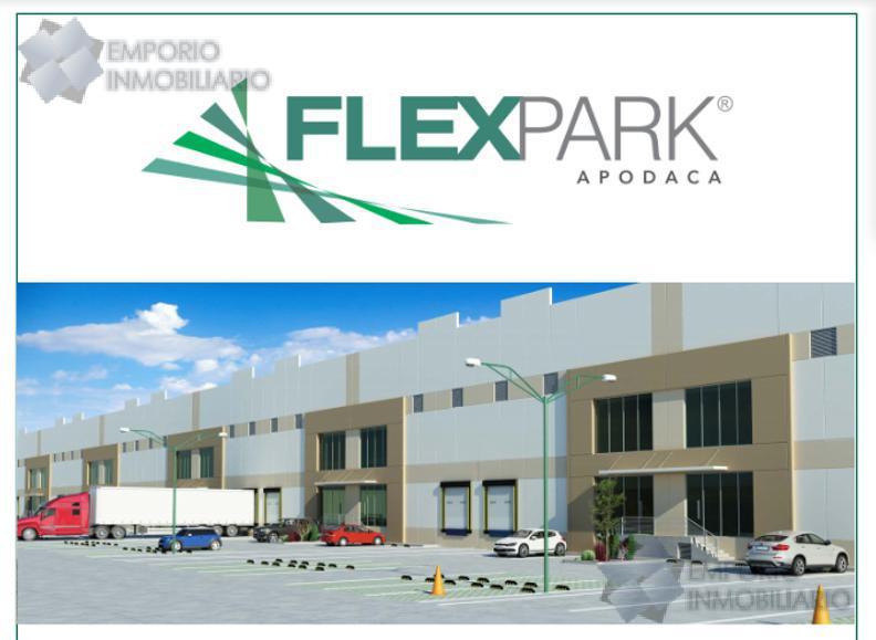 Foto Bodega Industrial en Renta en  Moderno Apodaca,  Apodaca  Bodega Renta Flex Park Apodaca L-01 $57,713 Adrnav EMO1
