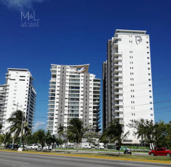 Foto Departamento en Venta en  Puerto Cancún,  Cancún  Departamento en Venta en Cancún,  BE TOWERS, de lujo,  2 recámaras y estudio en Puerto Cancún