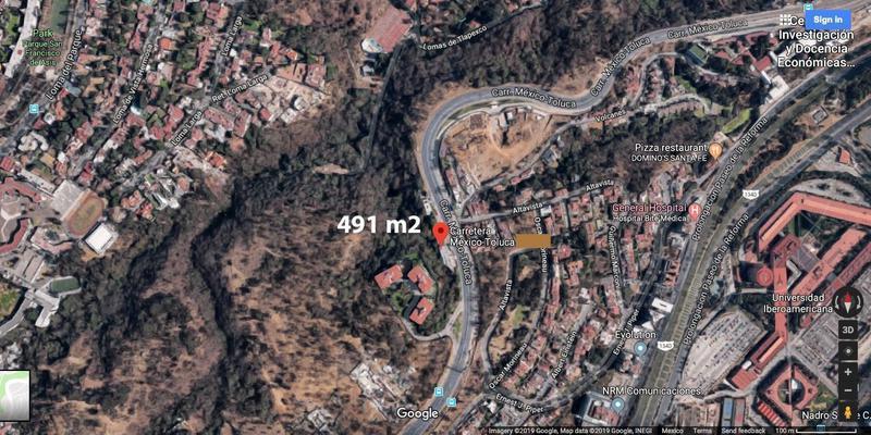 Foto Terreno en Venta en  Lomas de Vista Hermosa,  Cuajimalpa de Morelos  SKG Asesores Inmobiliarios vende Terreno de 450 m2 sobre Carretera Federal Mex - Toluca