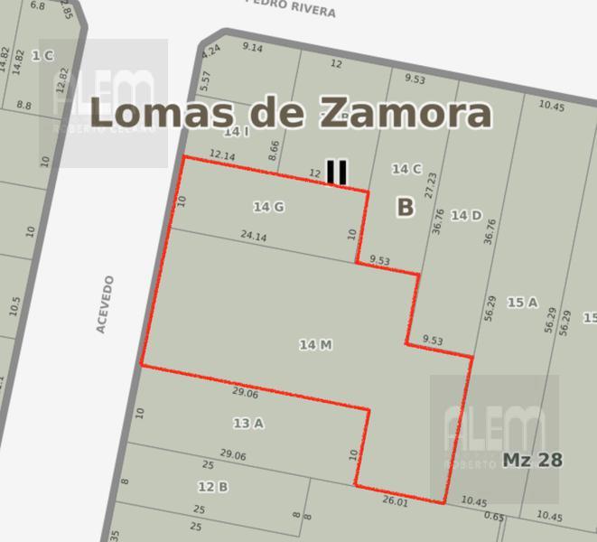 Foto Terreno en Venta en  Lomas de Zamora Oeste,  Lomas De Zamora  Acevedo al 300