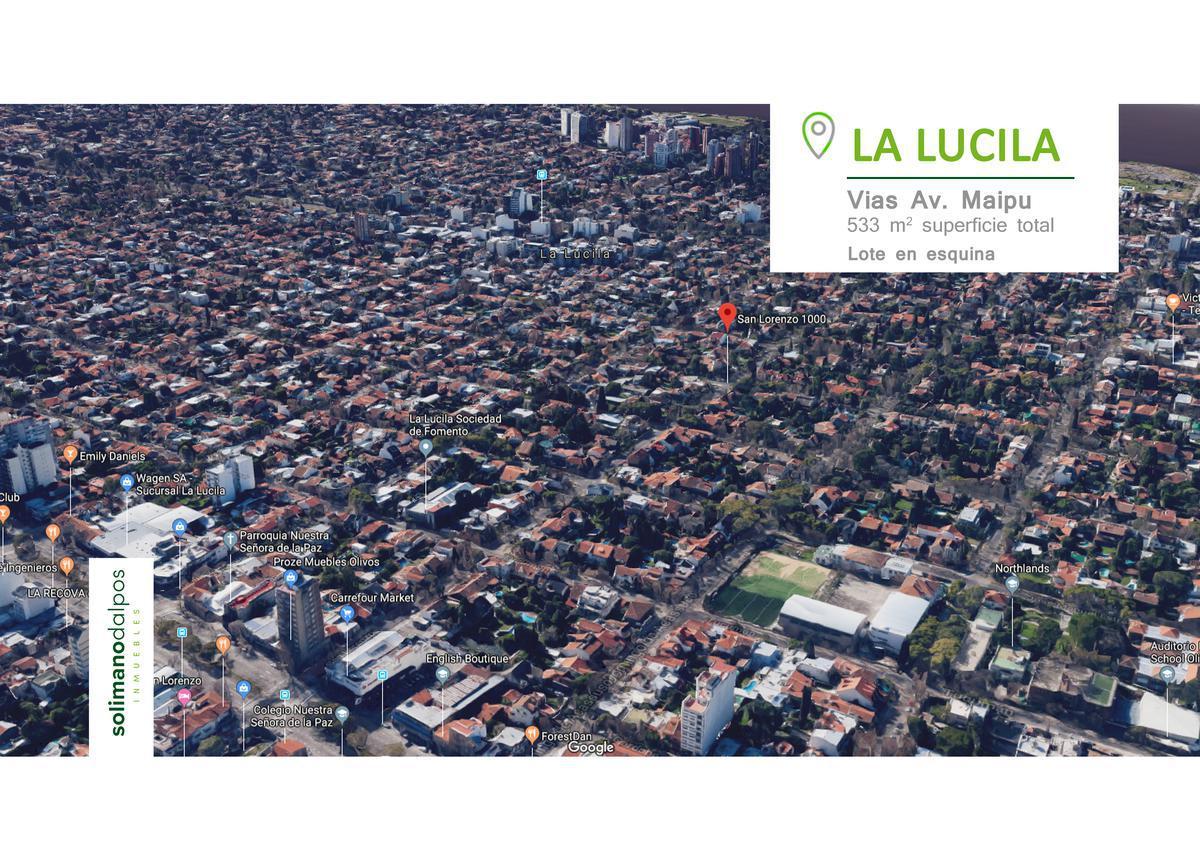 Foto Terreno en Venta en  La Lucila-Vias/Maipu,  La Lucila  San Lorenzo al 1000