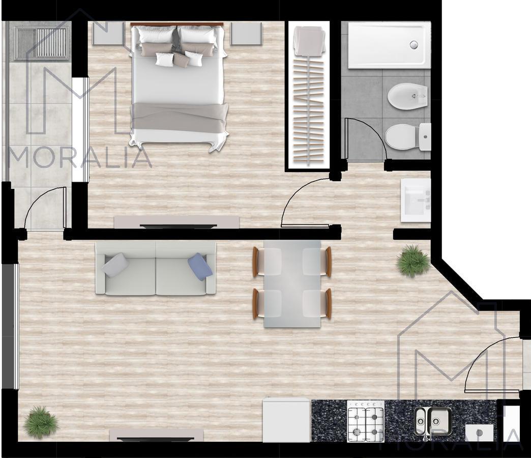 Foto Departamento en Venta en  Centro,  Rosario  Presidente Roca 1160 - Unidad 02-03 - 1 Dormitorio