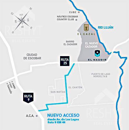 Foto Terreno en Venta en  Countries/B.Cerrado (Escobar),  Escobar  BARRIO EL NAUDIR - ESCOBAR