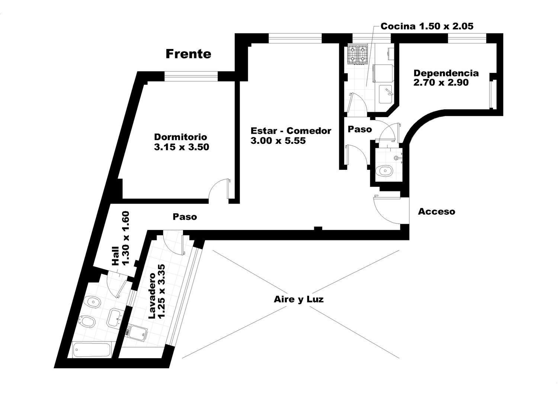 Departamento-Venta-Barrio Norte-Pacheco de Melo al 2600 y Austria
