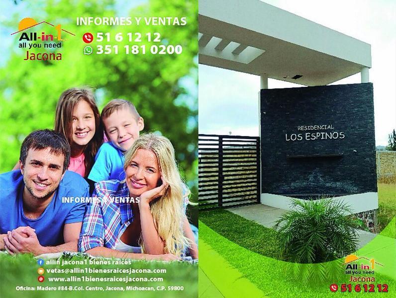 Foto Terreno en Venta |  en  Los Espinos,  Zamora  EN VENTA LOTES FRACCIONAMIENTO LOS ESPINOS EN ZAMORA