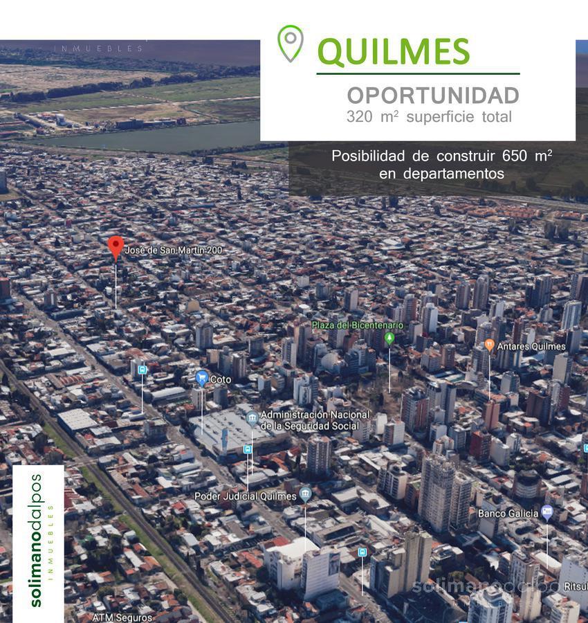 Foto Terreno en Venta en  Quilmes,  Quilmes  Jose de San Martin al 200